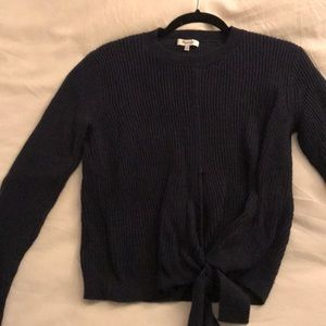 Madewell Navy Knit with Bow detail Sweater